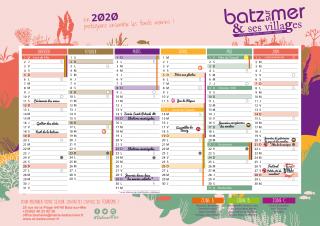 Calendrier 2020 Batz-sur-Mer