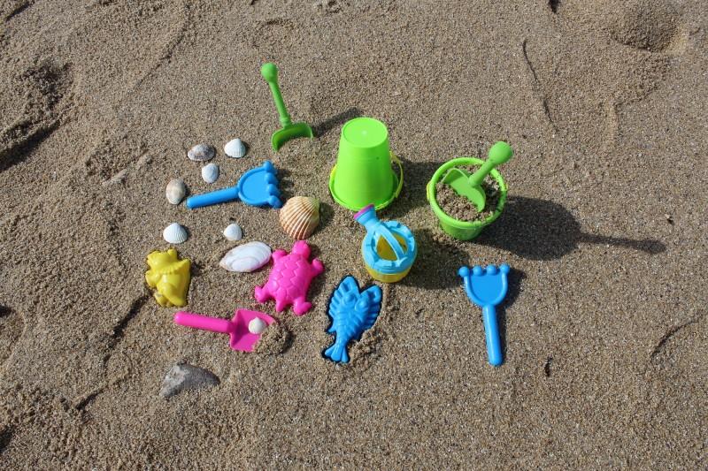 jouet de plage, coquillages