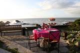 Batz sur Mer - Restaurant La Roche Mathieu - Table vue mer