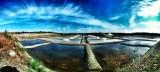Panorama sur les marais salants à Batz-sur-Mer