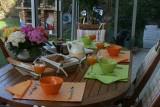 Au petit-déjeuner à la chambre d'hôtes Villandry à Batz-sur-Mer