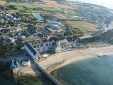 Plage Saint-Goustan au Croisic, vue aérienne en ULM de la plage, photo Christian CHAPUIS