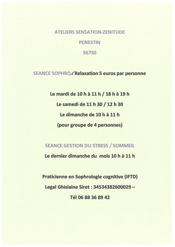 Ateliers Sensation-Zénitude Pénestin
