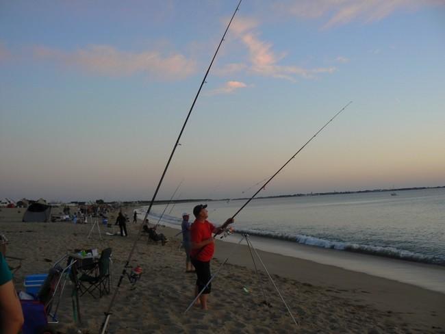 Pratique de la pêche en bord de mer