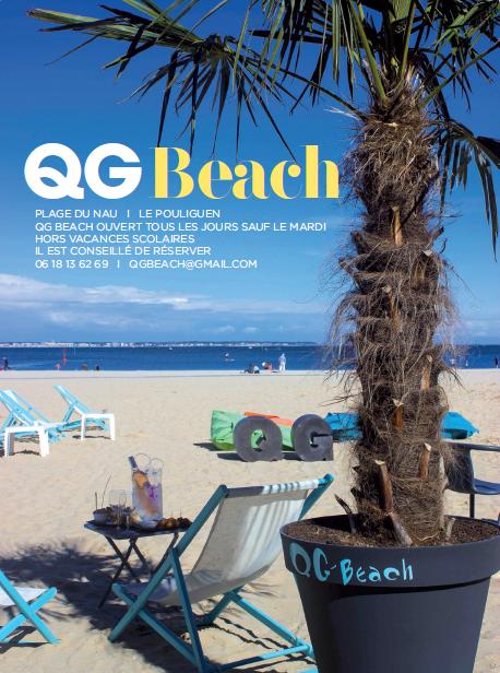 Restaurant le QG Beach plage du Nau au Pouliguen