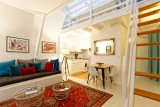 Batz sur Mer - Appartement la Cathédrale de sel - Pièce de vie sur cuisine