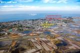 Batz sur Mer - Appartement la Cathédrale de sel - Vue aérienne de la ville avec situation des appartements